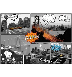 Fototapeta: New York (Comics) - 254x368 cm