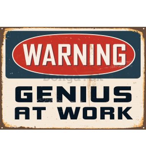 Fototapeta: Warning Genius at Work - 184x254 cm