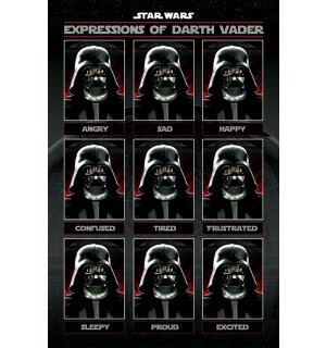 Plagát - Star Wars (Expressions of Darth Vader)