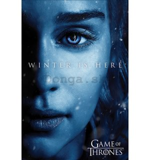Plagát - Game of Thrones (Winter is Here - Daenerys)