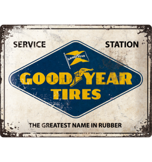 Plechová ceduľa: Good Year Tires (Service Station) - 30x40 cm