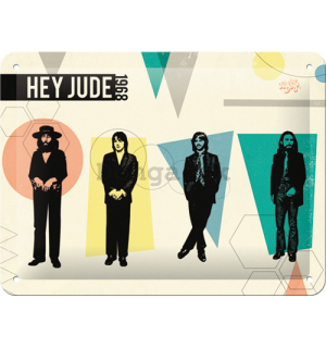 Plechová ceduľa: The Beatles (Hey Jude) - 15x20 cm