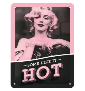 Plechová ceduľa: Marilyn Monroe (Some Like It Hot) - 20x15 cm