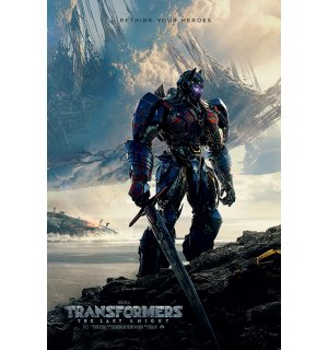 Plagát - Transformers Last Knight (Rethink Your Heroes)