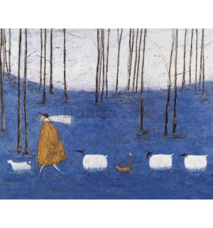 Obraz na plátne - Sam Toft, Tiptoe throgh the Bluebells