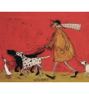 Obraz na plátne - Sam Toft, Walkies
