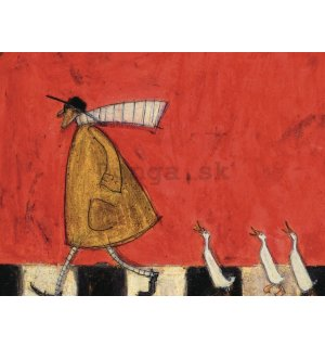 Obraz na plátne - Sam Toft, Crossing with Ducks