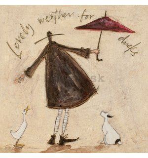Obraz na plátne - Sam Toft, Lovely Weather for Ducks