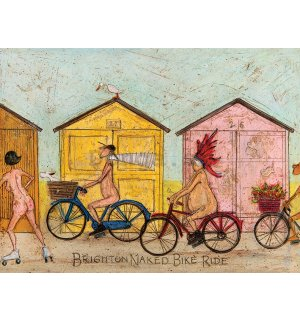 Obraz na plátne - Sam Toft, Brighton Naked Bike Ride