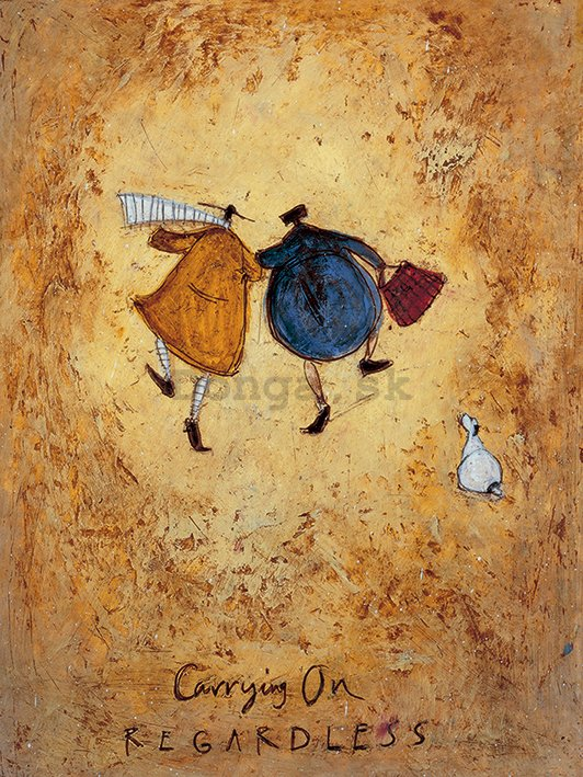 Obraz na plátne - Sam Toft, Carrying on Regardless