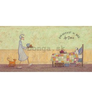 Obraz na plátne - Sam Toft, Breakfast in Bed For Doris