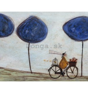 Obraz na plátne - Sam Toft, Freewheelin' with Joyce Greenfields and the Felix 3