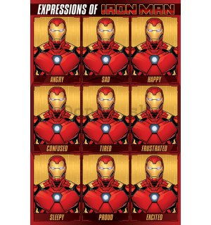 Plagát - Expressions of Iron Man