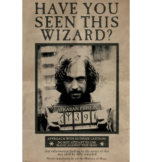 Plagát - Harry Potter (Wanted Sirius Black)