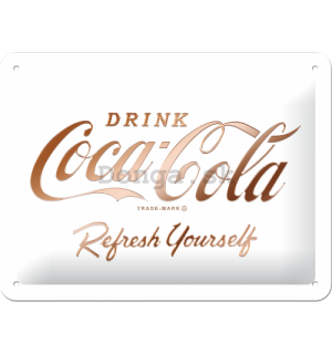 Plechová ceduľa: Coca-Cola Refresh Yourself - 15x20 cm