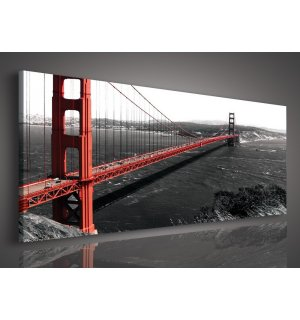 Obraz na plátne: Golden Gate Bridge (1) - 145x45 cm