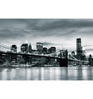 Fototapeta: Brooklyn Bridge (čiernobiely) - 104x152,5 cm