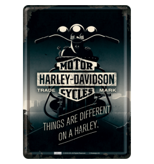 Plechová pohľadnice - Harley-Davidson ( Things Are Different)