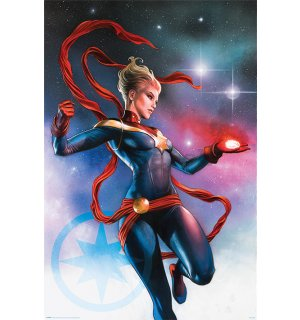 Plagát - Captain Marvel (Galaxy)