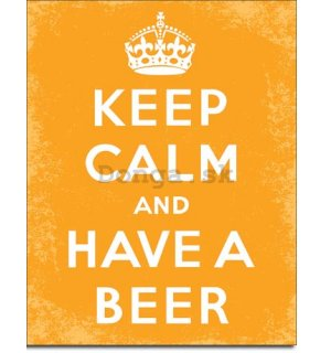 Plechová ceduľa - Keep Calm and Have a Beer