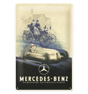 Plechová ceduľa: Mercedes-Benz (Silver Arrow Historic) - 30x20 cm