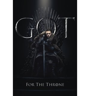 Plagát - Game of Thrones (Jon For the Throne)
