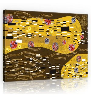 Obraz na plátne: Sensation Abstract, Gustav Klimt - 75x100 cm