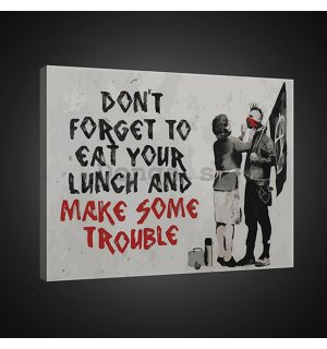 Obraz na plátne: Dont Forget to Eat Your Lunch (graffiti) - 75x100 cm