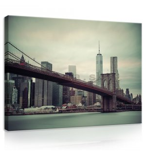 Obraz na plátne: Brooklyn Bridge (2) - 75x100 cm