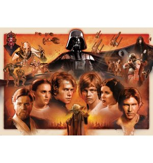 Fototapeta: Star Wars (red legacy) - 254x184cm