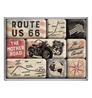 Sada magnetov - Route 66 Bike Map