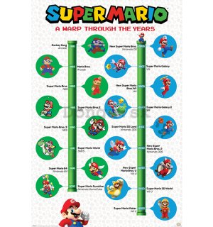 Plagát - Super Mario (A Warp Through The Years)