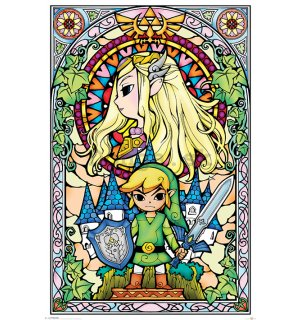 Plagát - The Legend Of Zelda (Stained Glass)